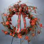 Mini Poinsettia Grapevine Wreath