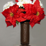 Red and White Poinsettia/Hydrangea Bouquet